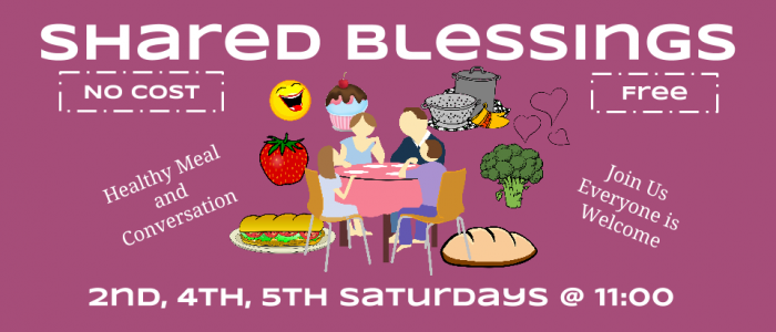shared blessings free meal 2nd 4th 5th saturdays