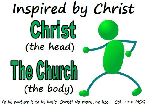 inspired by chirst; christ the head, the church the body